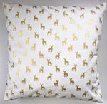 Gold Little Stags Cushion Cover 16""